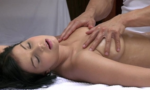 Orgasms pretty juvenile housewife has her hot body massaged and gratified by sexy chap