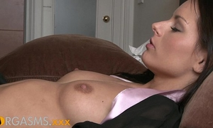 Orgasms hawt lesbo act as 2 glamorous brunettes explore every others bodies